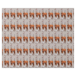BIRTHDAY LLAMA & FEATHERS Wrapping Paper