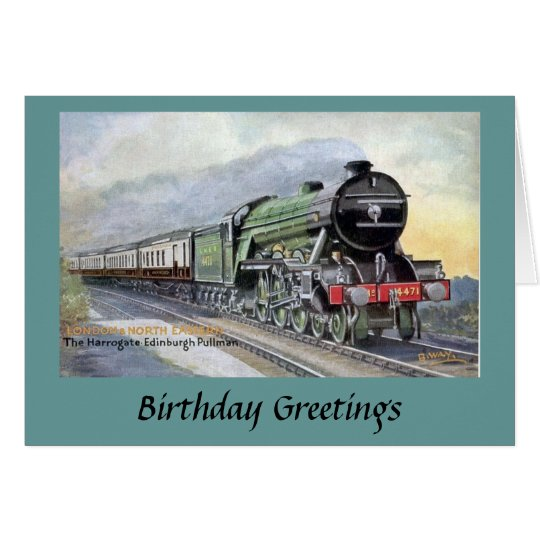 Birthday - LNER Train Card