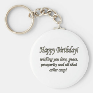 Birthday Love Peace Key Chains