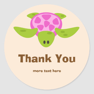 Birthday Luau Thank You Stickers