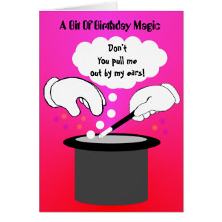 Birthday magic trick card