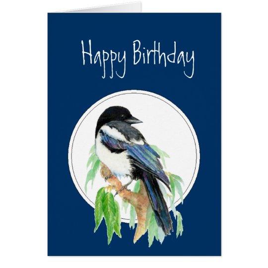 Birthday Magpie, Bird, Nature, Wildlife Card