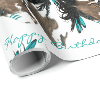 Birthday Majestic Horse by Bihrle Wrapping Paper