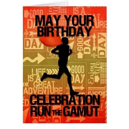 Birthday Male Runner Sport Theme Cards