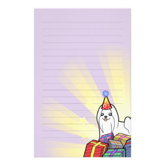 Birthday Maltese (show cut) Stationery