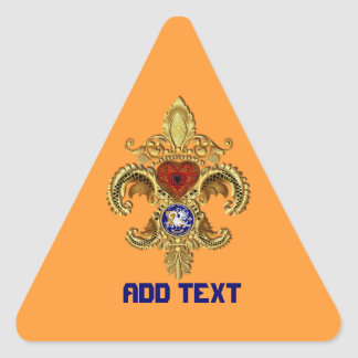 Birthday-Mardi Gras Party Louisiana  View Notes Triangle Stickers