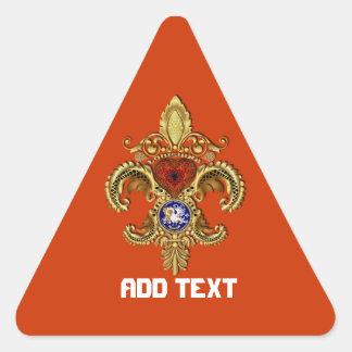 Birthday-Mardi Gras Party Louisiana  View Notes Triangle Sticker