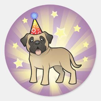 Birthday Mastiff / Bullmastiff Classic Round Sticker