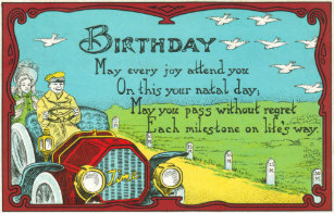 Birthday Milestones Great For Antique Car Lovers Card