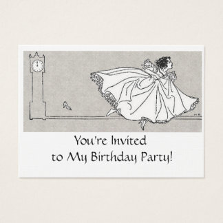 Birthday - Mini Invitations- Fairy Tale Theme Business Card