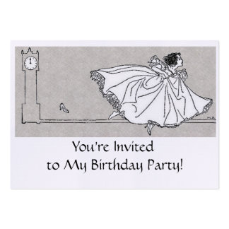 Birthday - Mini Invitations- Fairy Tale Theme Pack Of Chubby Business Cards