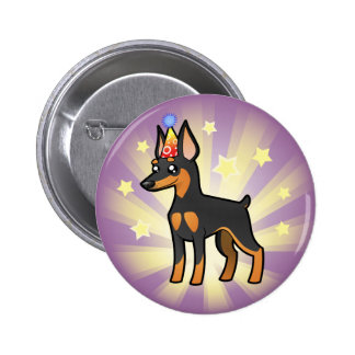 Birthday Miniature Pinscher / Manchester Terrier 6 Cm Round Badge