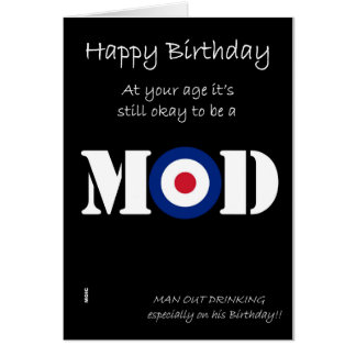 Birthday Mod humour card
