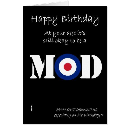 Birthday Mod humour card