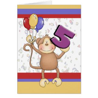 Birthday Monkey Greeting Card