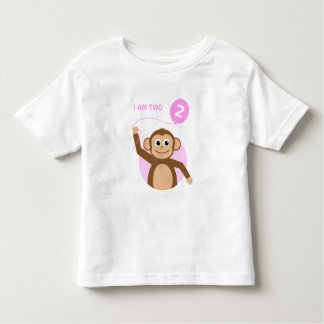 Birthday monkey pink balloon toddler T-Shirt