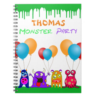 Birthday Monster Party Personalized Party Favors Notebook