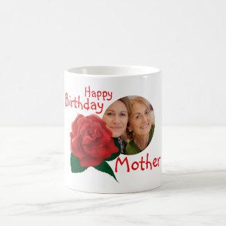 Birthday mother in law flower custom photo mug