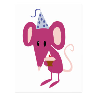 Birthday Mouse Post Card