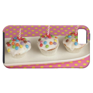 Birthday muffins with icing, sprinkles and tough iPhone 5 case