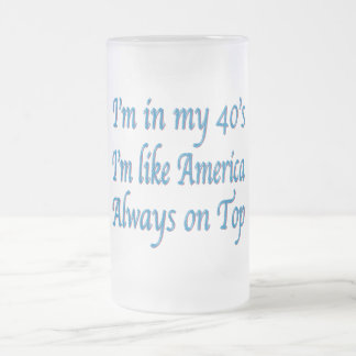 Birthday Frosted Glass Mug