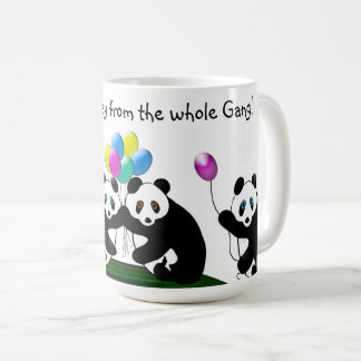 BIRTHDAY MUG - Panda Bears - From the Gang!