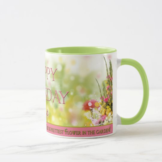 Birthday Mug - PERSONALIZE - GARDEN