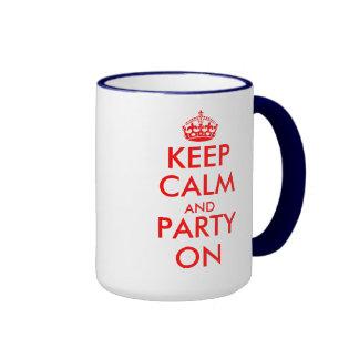 Birthday Mug with keep calm theme