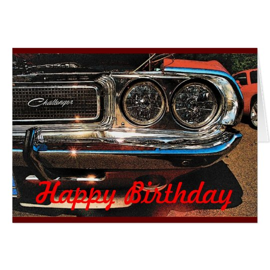 Birthday Muscle Car Card