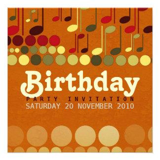 Birthday Music Fun Invitation