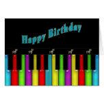 Birthday - Musical - Colourful Keyboard