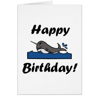 Birthday Narwhal Card
