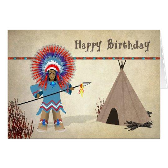 Birthday - Native Indian with tepee - Fun