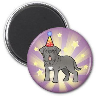 Birthday Neapolitan Mastiff 6 Cm Round Magnet