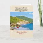 Birthday, Nephew, Beach, Hills, Birds, Ocean Card