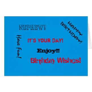 Birthday, Nephew, words for a dad. Card