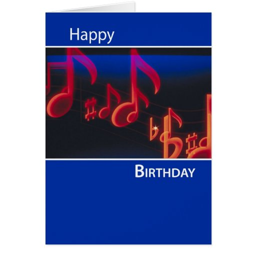 Birthday Notes, Celebrate and Enjoy on Blue Greeting Card