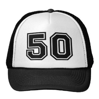 Birthday Number 50 Cap