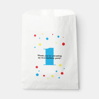 Birthday Number Color Polka Dots Favour Bags