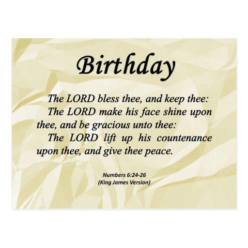 Birthday Numbers 6-24 Postcard