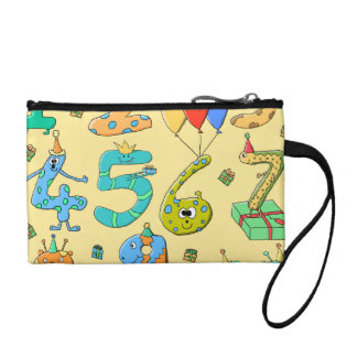 Birthday Numbers, on Yellow. Coin Purse