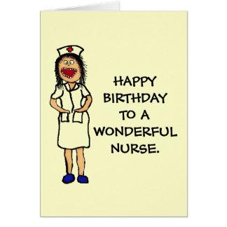Birthday Nurse Greeting Card