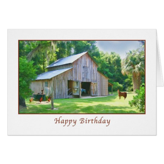 Birthday, Old Farm Barn Card