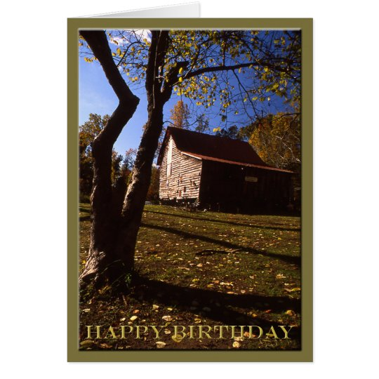 Birthday - Old Virginia Barn No 10 Card