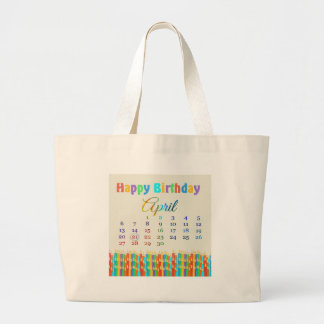 Birthday on April 21st Colorful Birthday Candles Bag