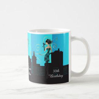 Birthday or Bachelorette Diva Girl - Baby Blue Coffee Mug