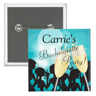 Birthday or Bachelorette Diva Girls Night Out 15 Cm Square Badge