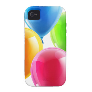 Birthday or party balloons Case-Mate iPhone 4 cases