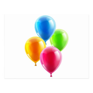 Birthday or party balloons post card