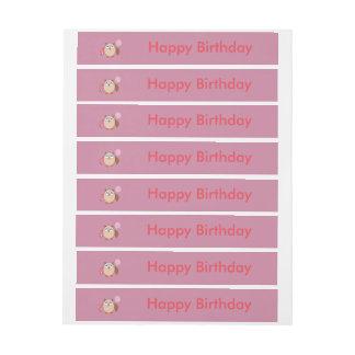 Birthday Owl Custom Labels Wraparound Address Label